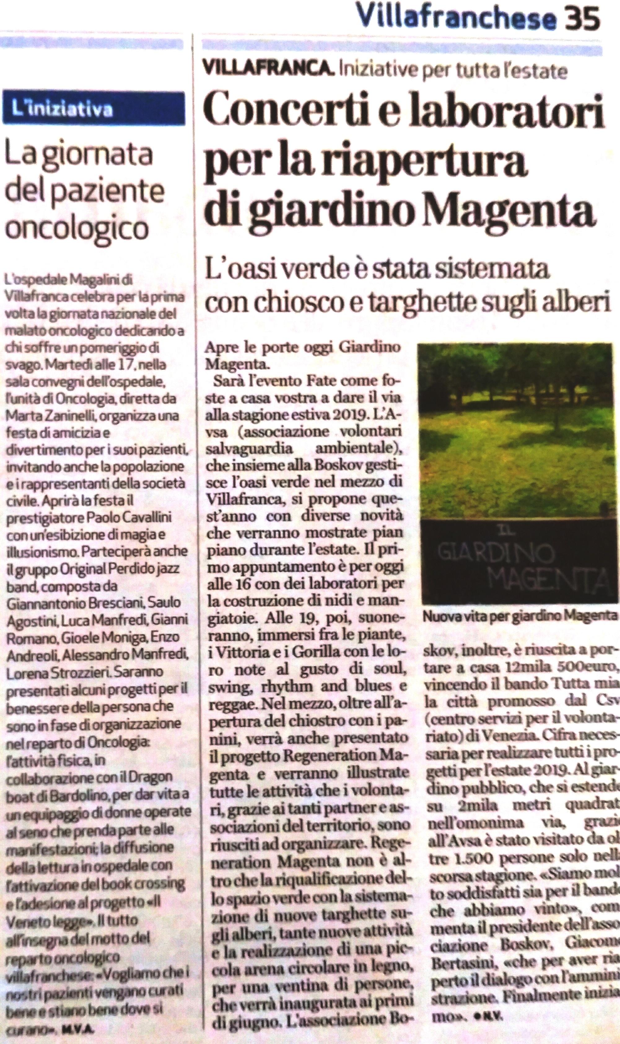 festa primavera Magalini
